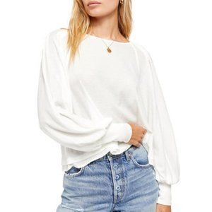 Free People Billie Cropped Contrast Tee. XS